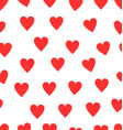 seamless red heart pattern background vector image vector image