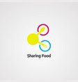 sharing food logo icon element and template vector image