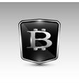 stylish black bitcoin logo vector image vector image
