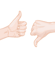 thumb up thumb down vector image vector image