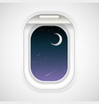 view outside from airplane window vector image