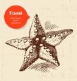 Vintage travel background vector image