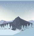 winter landscape design vector image vector image