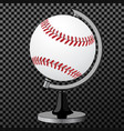 baseball baseball globe isolated over vector image