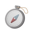 tourist compass isolated icon vector image