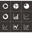 black diagram icon set vector image