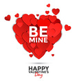 valentine card with paper hearts vector image