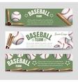 Baseball team banners vector image