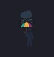 Rainy computer symbol vector image