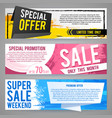 abstract gift vouchers or sale banners with vector image