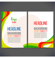 Abstract template design brochure vector image vector image