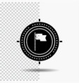 aim business deadline flag focus glyph icon on vector image vector image