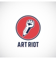 Art Riot Abstract Sign Symbol Icon or vector image