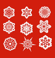 beautiful snowflakes set vector image vector image