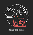 beauty and fitness chalk concept icon healthy vector image
