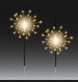 bengal lights on a transparent background vector image vector image