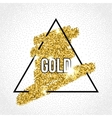 black frame on gold glitter background vector image vector image
