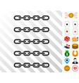 blockchain array icon with bonus vector image vector image