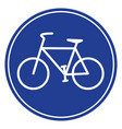 blue bike icon vector image vector image