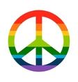 Brightness Rainbow peace symbol vector image vector image