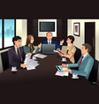 business team meeting in a modern office vector image vector image