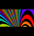 colorful rainbow abstract lines psychedelic vector image vector image