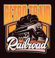 colorful retro posters with a vintage locomotive vector image vector image