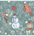 colorful seamless winter pattern vector image vector image