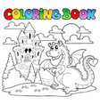 coloring book dragon theme image 1 vector image vector image