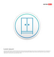 cupboard wardrobe icon - white circle button vector image vector image