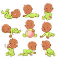 dark skin baby set vector image