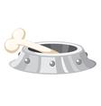 dog bowl vector image vector image