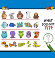 find mismatched picture game vector image vector image