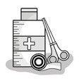 first aid kit to healthcare people vector image vector image