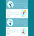 fitness exercise tips web page template sport vector image vector image