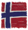 Flag of Norway handmade square shape vector image