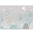 Floral Background with Birds vector image vector image