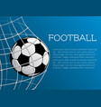 Football ball poster of soccer championship vector image