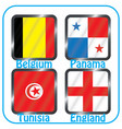 football championship flags group g vector image vector image