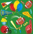 Football party icons vector | Price: 3 Credits (USD $3)
