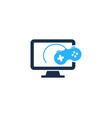 game computer logo icon design vector image