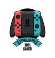 gamer gamepad technology vector image