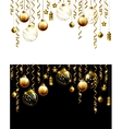 Glass Christmas evening balls on a black and white vector image vector image