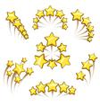 Golden stars design element set vector image vector image