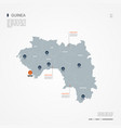 guinea infographic map vector image vector image