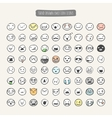 Hand drawn emotion icons vector image vector image