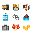 Internet safety icons isolated vector image vector image