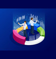 isometric business analytics strategy and vector image vector image