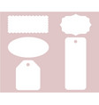 label tag stitch set white isolated vector image vector image