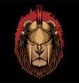 lion sparta helmet vector image vector image